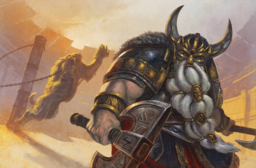 640x421_9400_Dwarf_vs_Smylodon_2d_fantasy_dwarf_tiger_miniatures_warrior_picture_image_digital_art.jpg