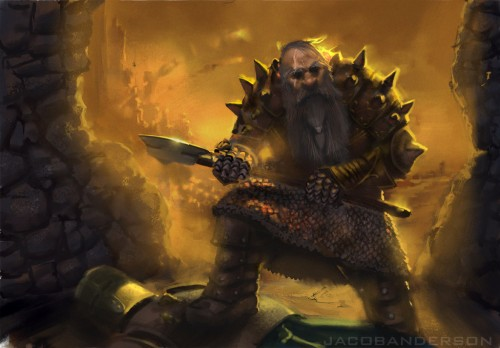 Dwarven battlesmith by jackalscu