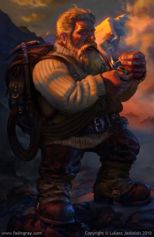 Dwarven mountaineer