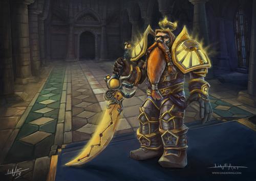 Fan art commission dwarf paladin